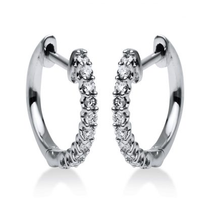 18 kt white gold hoops & huggies with 20 diamonds 2G954W8-1