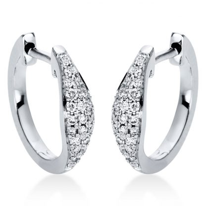 18 kt white gold hoops & huggies with 42 diamonds 2I973W8-4