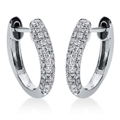 18 kt white gold hoops & huggies with 88 diamonds 2I981W8-1