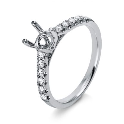 18 kt white gold mounting with 12 diamonds 1D266W853-10