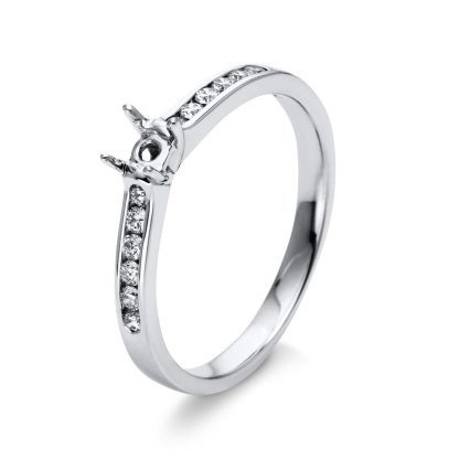 18 kt white gold mounting with 12 diamonds 1D303W853-3