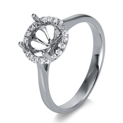 18 kt white gold mounting with 20 diamonds 1D801W853-7