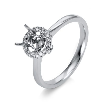 18 kt white gold mounting with 22 diamonds 1D218W854-1