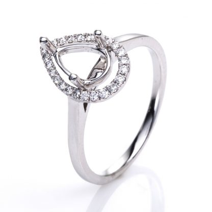 18 kt white gold mounting with 24 diamonds 1F997W853-1