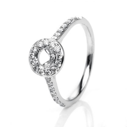 18 kt white gold mounting with 27 diamonds 1H082W853-2