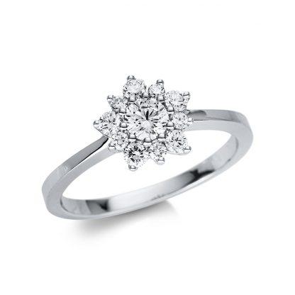 18 kt white gold multi stone with 11 diamonds 1U479W854-1