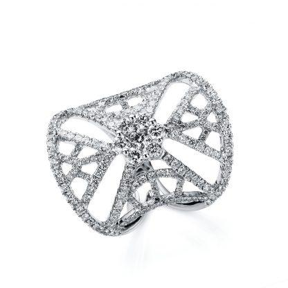 18 kt white gold multi stone with 191 diamonds 1B563W853-1