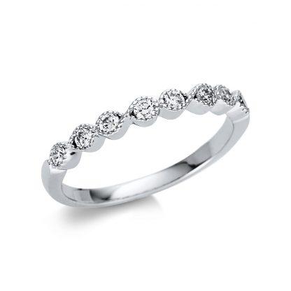 18 kt white gold multi stone with 8 diamonds 1U506W854-1