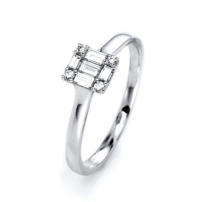 18 kt white gold multi stone with 9 diamonds 1I101W854-1