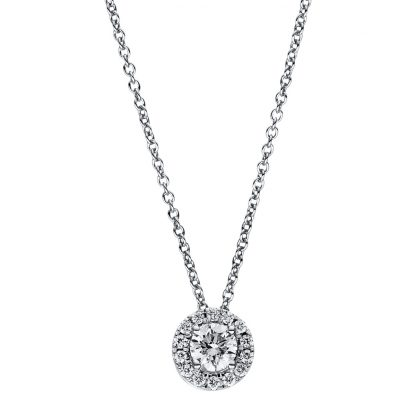 18 kt white gold necklace with 15 diamonds 4F359W8-1