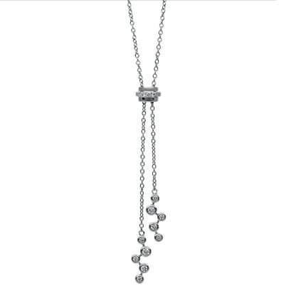 18 kt white gold necklace with 17 diamonds 4C050W8-1