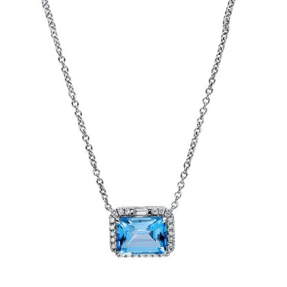 18 kt white gold necklace with 26 diamonds
