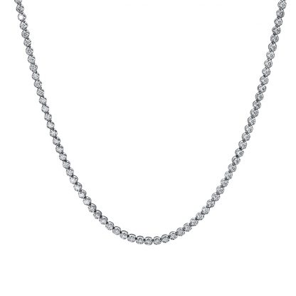 18 kt white gold necklace with 286 diamonds 4E649W8-1