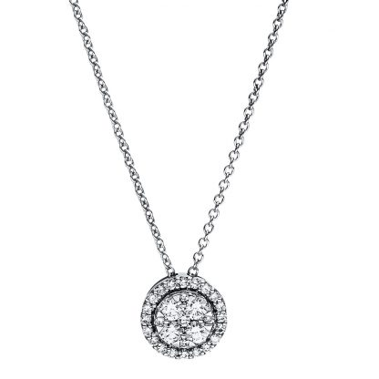 18 kt white gold necklace with 29 diamonds 4F352W8-1