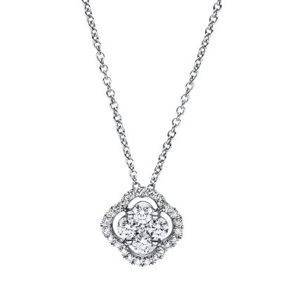 18 kt white gold necklace with 29 diamonds 4F356W8-2