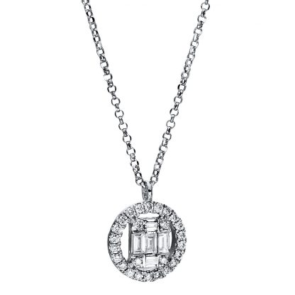 18 kt white gold necklace with 31 diamonds 4E324W8-4