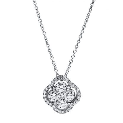 18 kt white gold necklace with 33 diamonds 4F355W8-2