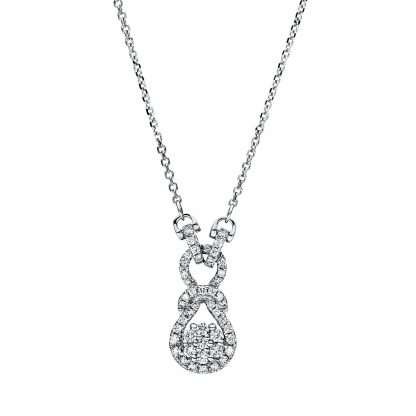 18 kt white gold necklace with 49 diamonds 4F505W8-1