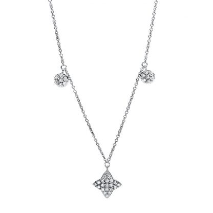 18 kt white gold necklace with 77 diamonds 4F494W8-1