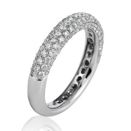 18 kt white gold pavé with 107 diamonds 1B776W852-1