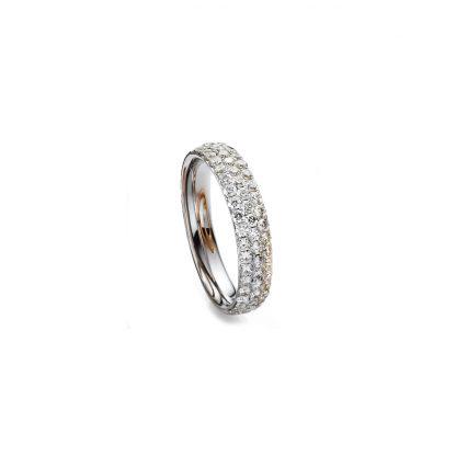 18 kt white gold pavé with 59 diamonds 1H307W855-1