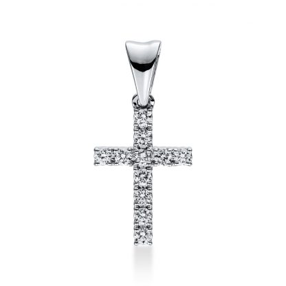 18 kt white gold pendant with 11 diamonds 3D812W8-1