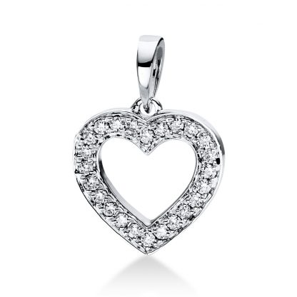 18 kt white gold pendant with 24 diamonds 3D813W8-5