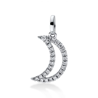 18 kt white gold pendant with 27 diamonds 3D870W8-1