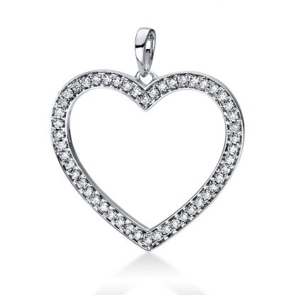 18 kt white gold pendant with 50 diamonds 3D815W8-3