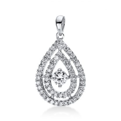 18 kt white gold pendant with 57 diamonds 3D818W8-1