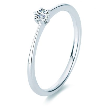 18 kt white gold solitaire with 1 diamond 1A328W856-1