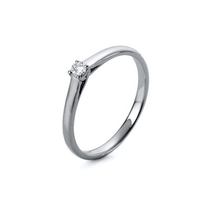 18 kt white gold solitaire with 1 diamond 1A439W854-1