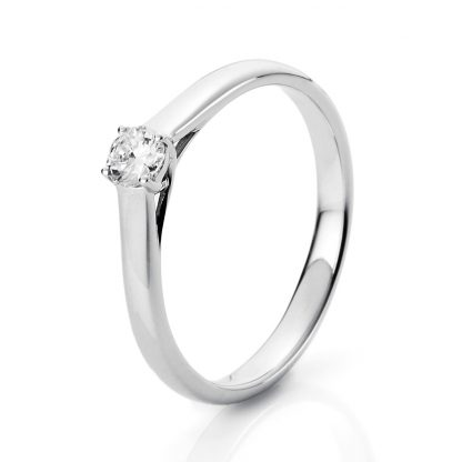 18 kt white gold solitaire with 1 diamond 1A441W854-1
