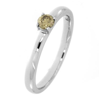 18 kt white gold solitaire with 1 diamond 1A568W856-1