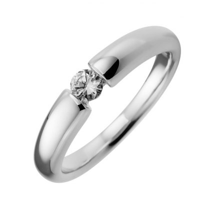 18 kt white gold solitaire with 1 diamond 1A703W852-1