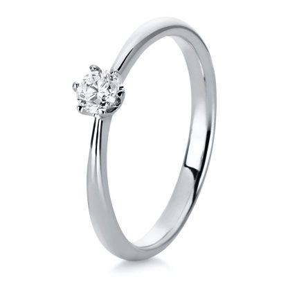 18 kt white gold solitaire with 1 diamond 1C480W854-11