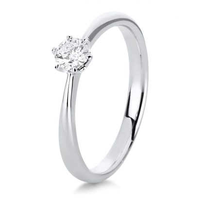 18 kt white gold solitaire with 1 diamond 1C481W855-3