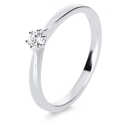 18 kt white gold solitaire with 1 diamond 1E243W852-1