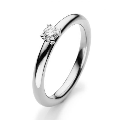 18 kt white gold solitaire with 1 diamond 1E455W854-4