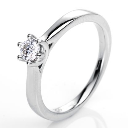 18 kt white gold solitaire with 1 diamond 1G236W854-1