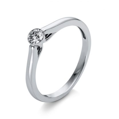 18 kt white gold solitaire with 1 diamond 1O233W853-3