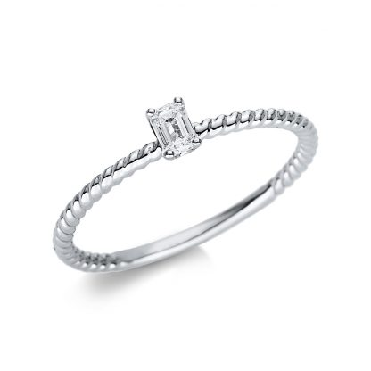 18 kt white gold solitaire with 1 diamond 1U495W854-2