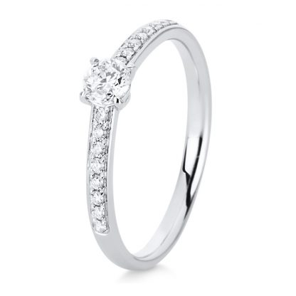 18 kt white gold solitaire with side stones with 19 diamonds 1C487W853-3