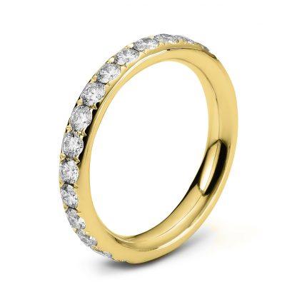 18 kt yellow gold eternity full with 28 diamonds 1C360G854-3