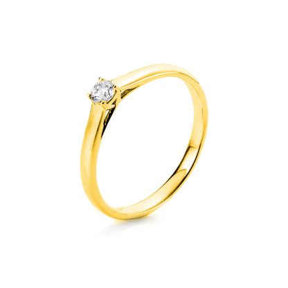 18 kt yellow gold solitaire with 1 diamond 1A440G855-1