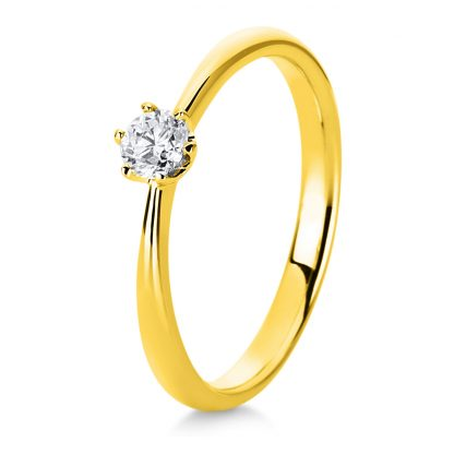 18 kt yellow gold solitaire with 1 diamond 1C480G856-1