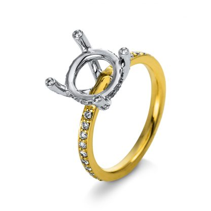 18 kt yellow gold / white gold mounting with 62 diamonds 1R161GW853-1