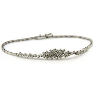 White gold bracelet with diamonds 33740 01