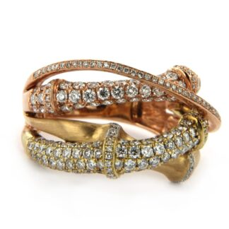 Yellow gold ring with diamonds 34965 01