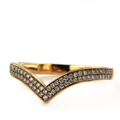Yellow gold ring with diamonds 37188 01